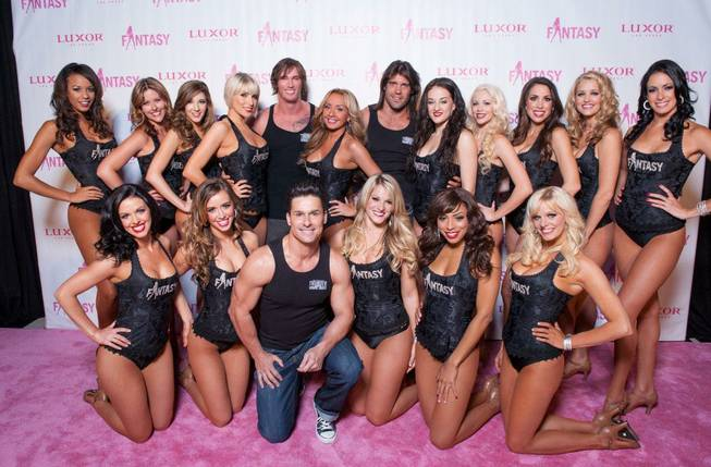"The red carpet for the 2013 ""Fantasy"" Calendar Release Party included the ""Fantasy"" girls and Excalibur headliners Thunder From Down Under at the Luxor on Tuesday, Oct. 16, 2012."