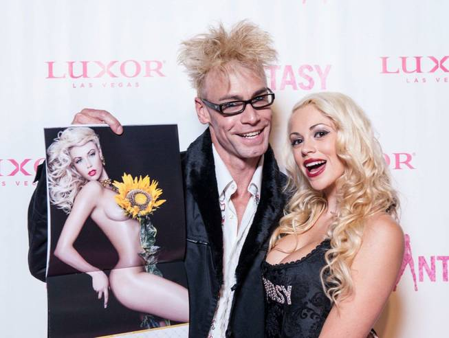 "The red carpet for the 2013 ""Fantasy"" Calendar Release Party included Tropicana headliner magician Murray Sawchuck and his  ""Fantasy"" dancer wife Chloe at the Luxor on Tuesday, Oct. 16, 2012."
