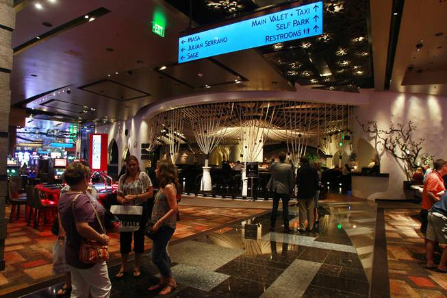 A view of Javier's in Aria Oct. 18, 2012.