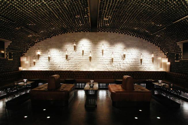 An alcove is part of the design of Javier's in Aria Oct. 18, 2012.