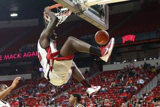 UNLV forward Anthony Bennett dunks during the team's First Look scrimmage Thursday, Oct. 18, 2012 at the Thomas & Mack.