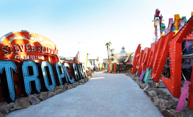 The Neon Boneyard at the Neon Museum in Las Vegas on Thursday, Oct. 18, 2012.