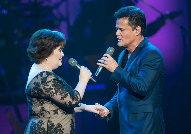 Donny Osmond welcomes Susan Boyle to