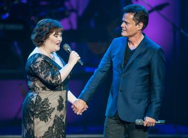 "It's been a big week for Susan Boyle, the ""Britain's Got Talent"" breakout star from 2009, as she performed not once but twice with Flamingo headliner Donny Osmond -- her childhood idol and crush (call it ""Puppy Love"")."