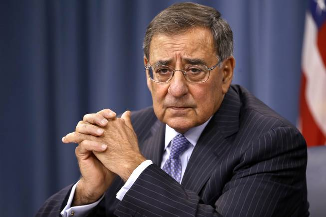 Defense Secretary Leon Panetta listens during a news conference at the Pentagon, Thursday, Sept. 27, 2012.