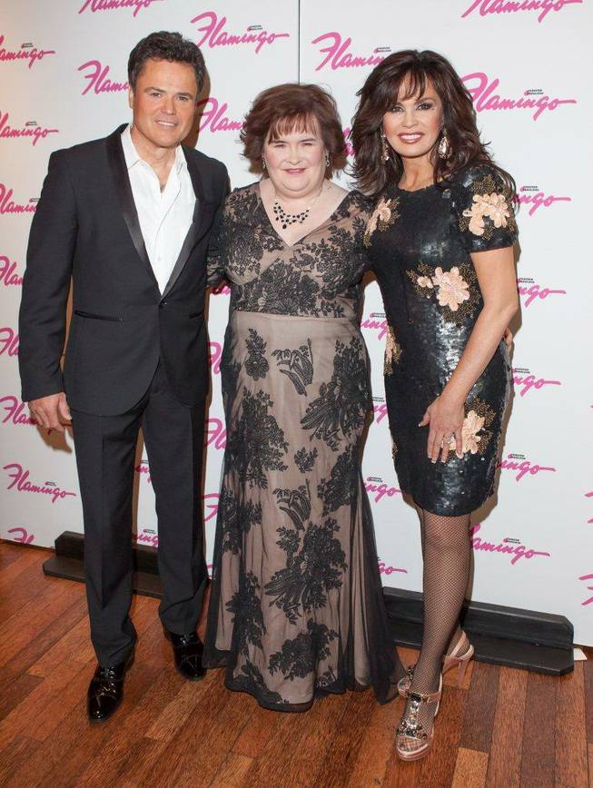 Donny Osmond, Susan Boyle and Marie Osmond at the Flamingo on Wednesday, Oct. 17, 2012.