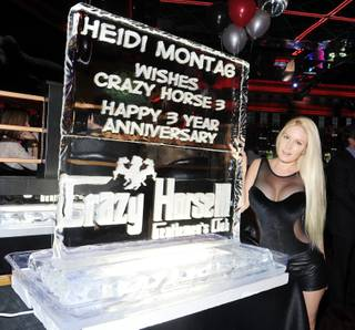 Heidi Montag hosts the third anniversary of Crazy Horse III on Friday, Oct. 19, 2012.