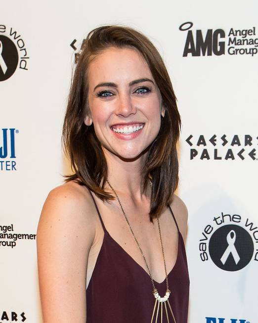 Jessica Stroup celebrates her 26th birthday at Pure in Caesars ...