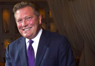 John Unwin, CEO of Cosmopolitan Las Vegas, poses at the resort Monday, Oct. 22, 2012.