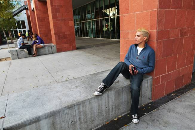 Rafael Lopez, 23, is a psychology major at UNLV who has applied for a work permit through deferred action, the federal program that allows some young immigrants who are residing in the country illegally to temporarily avoid deportation, Tuesday, Oct. 23, 2012.