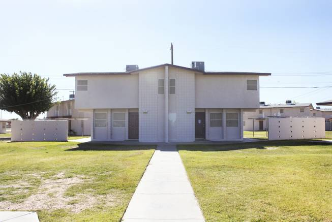 A two story duplex is seen at the Sherman Gardens apartments on Wednesday, Oct. 24, 2012. The Sherman Gardens community will be undergoing outdoor renovations as part of a community improvement plan.