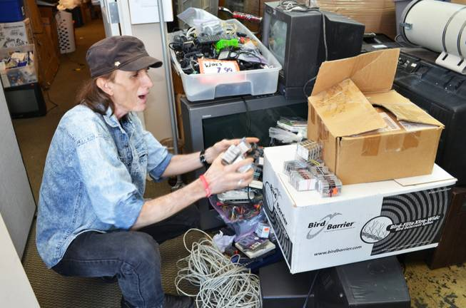 Randy Williams is ecstatic after recovering tapes of his musical recordings from Las Vegas E-Waste on Thursday, Oct. 25, 2012.