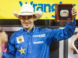 Day 1 of the 2012 PBR Built Ford Tough World Finals won by 2010 world champion Renato Nunes at the Thomas & Mack Center on Wednesday, Oct. 24, 2012.