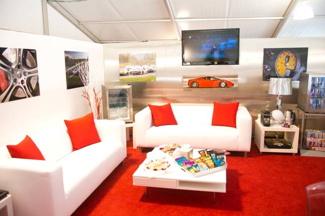 A view of the VIP lounge at Exotics Racing Las Vegas, Thursday Oct. 15, 2012.