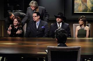 Stephen Baldwin, Marilu Henner, Gary Busey, Penn Jillette, Trace Adkins, Lisa Rinna and Donald Trump Jr. in Episode 4 of NBC's