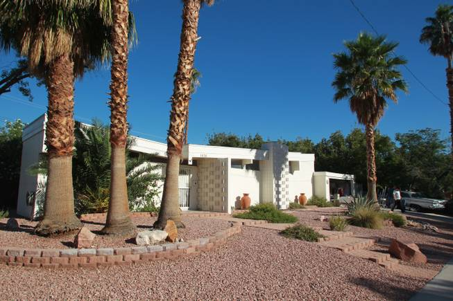 A mid-century modern home is seen in the Paradise Palms neighborhood Saturday, Oct. 20, 2012.