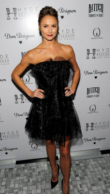 Stacy Keibler hosts the Halloween Masquerade at Hyde Bellagio on ...