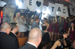 Stacy Keibler Hosts Halloween Masquerade at Hyde