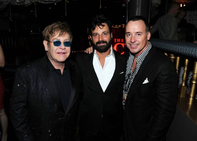 Sir Elton John, Simon Hammerstein and David Furnish at the ...