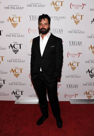 Simon Hammerstein arrives at the grand opening of his the Act and David Furnish's 50th birthday celebration hosted by husband Sir Elton John at the Palazzo on Saturday, Oct. 27, 2012.