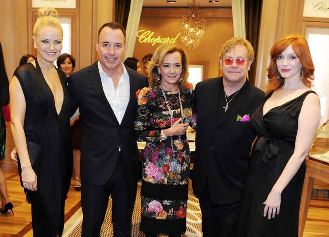 Malin Akerman, David Furnish, Caroline Scheufele, Sir Elton John and ...