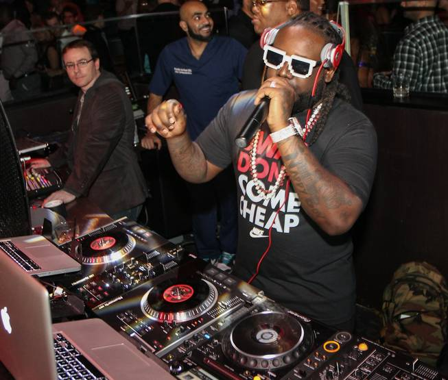 T-Pain at Haze in Aria on Friday, Oct. 26, 2012.