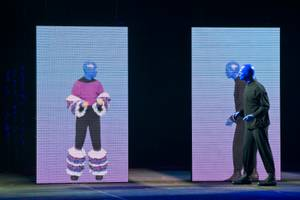 A first look at Blue Man Group's new show at the Monte Carlo on Tuesday, Oct. 30, 2012.