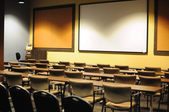 A classroom is shown inside the Konami Gaming Lab on Tuesday, Oct. 30, 2012. The gaming lab at UNLV gives students hands-on experience in casino management.