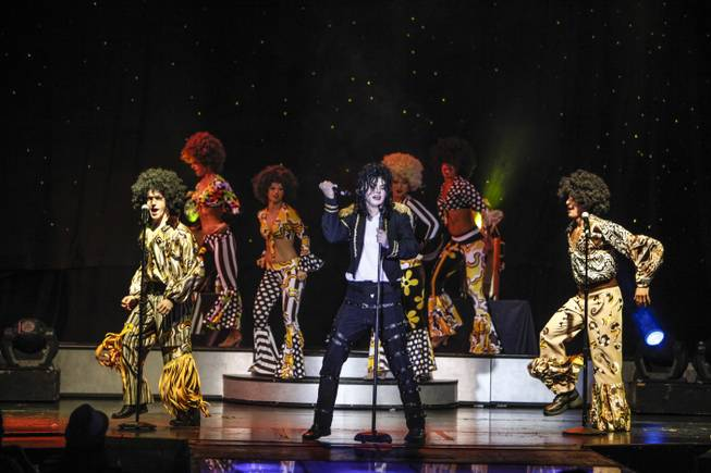 "Michael Firestone portrays Michael Jackson in the show ""MJ LIve"" at the Rio All-Suite Hotel and Casino in Las Vegas."