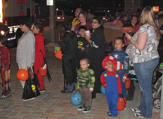 A Halloween scene at the District at Green Valley Ranch in Henderson, Wednesday, Oct. 31, 2012.