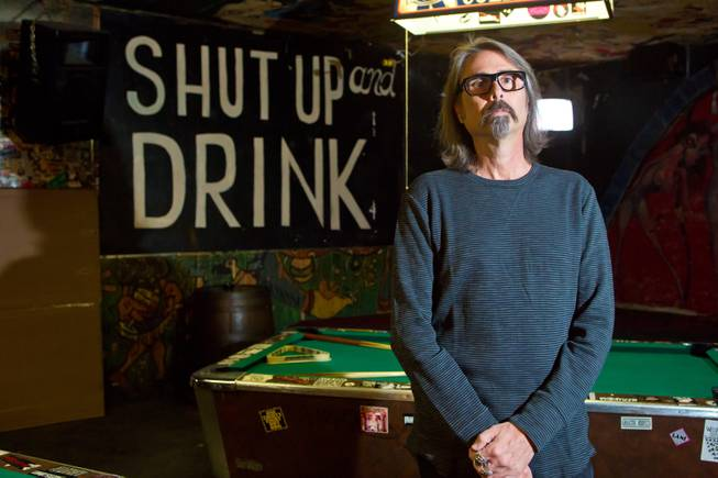 P Moss, owner of the Double Down Saloon, Thursday Nov 1, 2012.