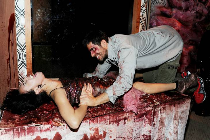 Eli Roth gets into the Halloween spirit hosting a bash at Eli Roth's Goretorium on Wednesday, Oct. 31, 2012.