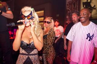 Jenny McCarthy celebrates her 40th birthday and hosts a Halloween party at Gallery in Planet Hollywood on Wednesday, Oct. 31, 2012.