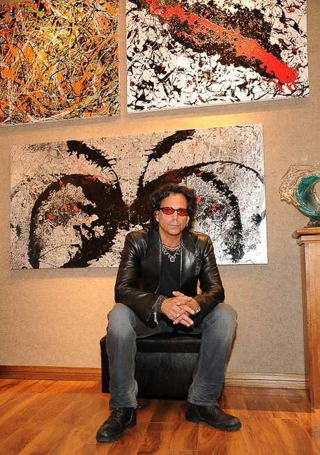 Richard Grieco presents his paintings at Wyland Galleries in the ...