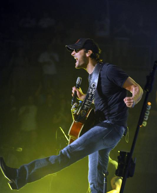 Eric Church performs at Mandalay Bay Events Center on Saturday, ...
