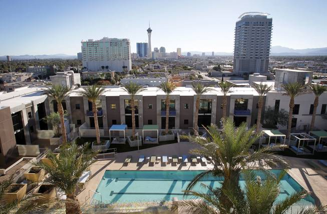 A view of the pool area at Juhl Las Vegas in downtown Las Vegas on Monday, November 5, 2012.