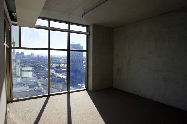 Inside a penthouse-level unit for lease at Juhl Las Vegas in downtown Las Vegas on Monday, November 5, 2012.