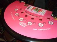 The Fiesta Casino's black jack tables go pink for October breast cancer awareness month.