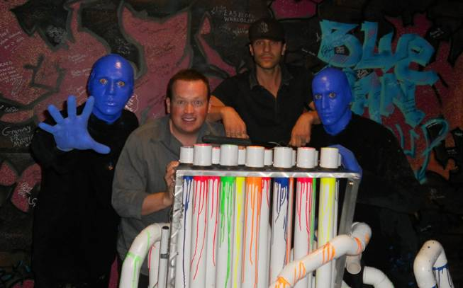 Nathan Burton and Criss Angel at Blue Man Group in the Monte Carlo on Monday, Nov. 5, 2012.