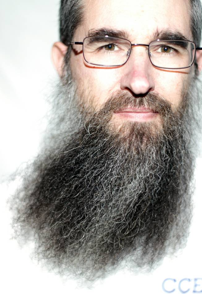 Chuck Bean of Las Vegas will compete in the sideburns category of the 2012 National Beard and Mustache Championships held in Las Vegas on November 11. Bean was photographed on November 8, 2012 in Las Vegas.
