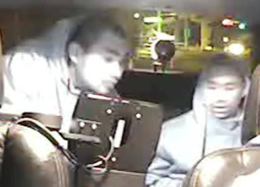 Two men are being sought after they robbed a cab driver Wednesday night.