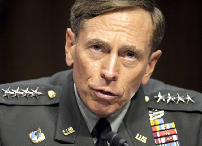In this June 23, 2011, file photo, then-CIA Director-designate Gen. David Petraeus testifies on Capitol Hill in Washington.