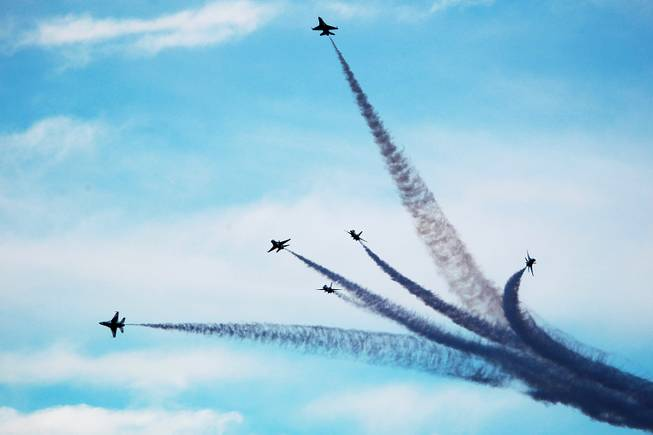 The Air Force Thunderbirds perform during the annual Aviation Nation ...