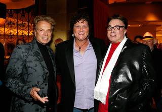 Siegfried Fischbacher, Dot Jones and Roy Horn attend the premiere of Cirque du Solei's