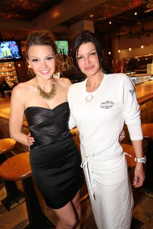 Aimee Teegarden celebrates her belated 23rd birthday at chef Carla Pellegrino's Meatball Spot in Town Square on Saturday, Nov. 10, 2012.