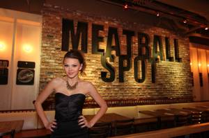 Aimee Teegarden's Belated 23rd Birthday at Chateau, Meatball Spot