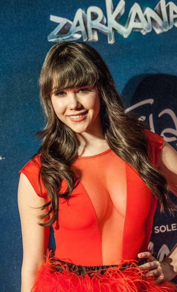 Claire Sinclair attends the red carpet grand opening of Cirque du Soleil's