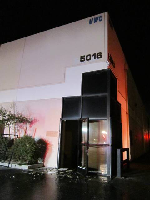A fire early Sunday, Nov. 11, 2012, caused an estimated $1 million damage to a Universal Watch Co. building in Las Vegas.
