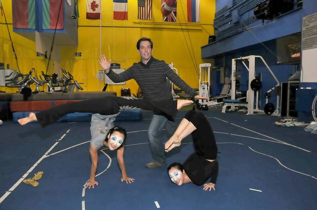 "Ed Helms at Cirque du Soleil's ""O"" in the Bellagio on Sunday, Nov. 11, 2012."