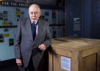 G. Robert Blakey poses at the Mob Museum in downtown Las Vegas Tuesday, Nov. 13, 2012.